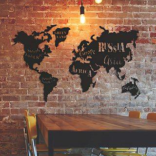 Карта Мира Континенты [140х85]