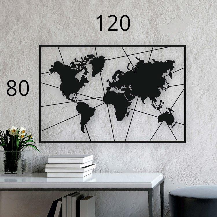 Карта Мира Вектор [120х80]