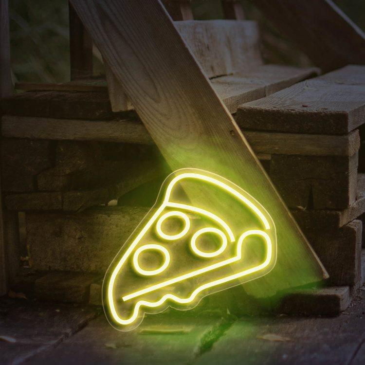 Неоновая вывеска Пицца
