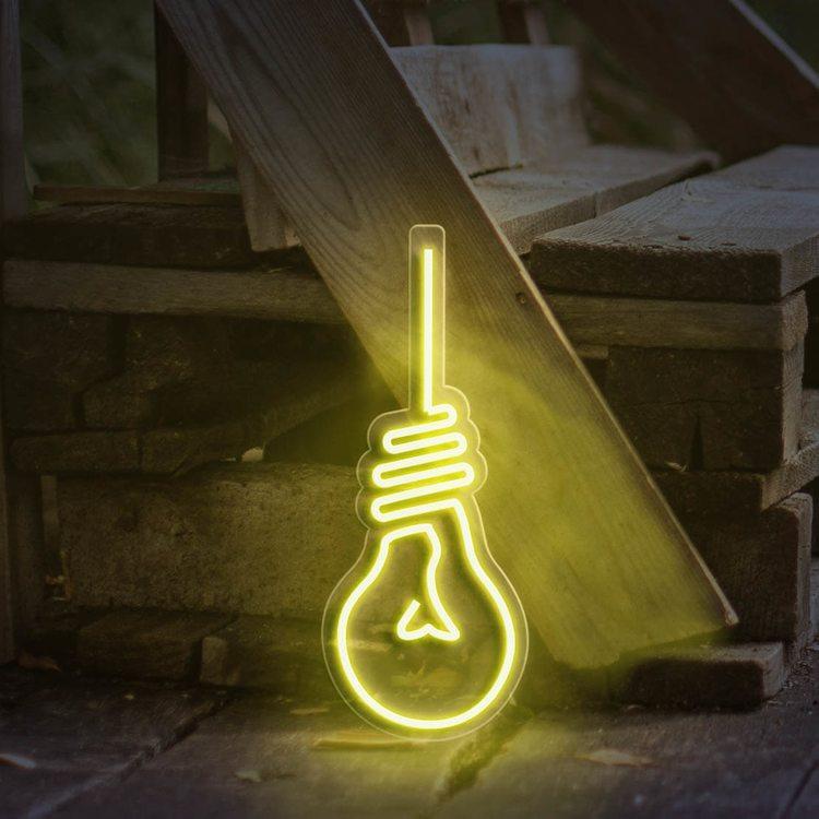 Неоновая вывеска Лампочка