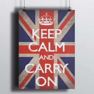 Постер Флаг - Keep calm and carry on