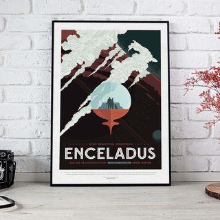 Постер NASA - Энцеладус