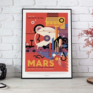 Постер NASA - Марс