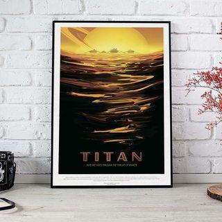 Постер NASA - Титан