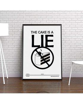 [HD] Постер Portal 2 - Торт