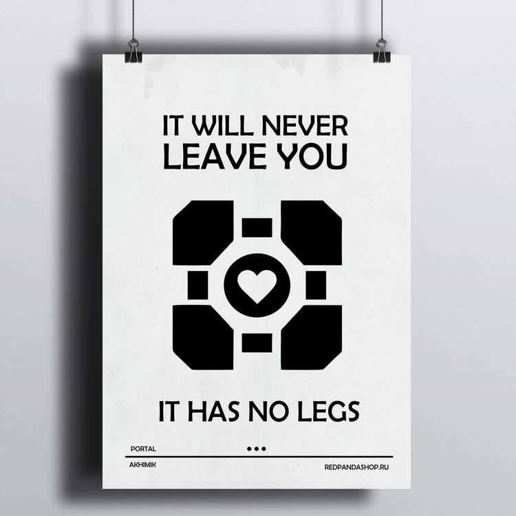 [HD] Постер Portal 2 - Куб-компаньон