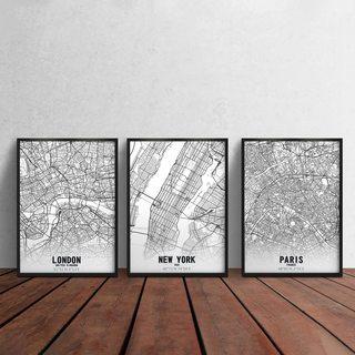 Комплект постеров Города