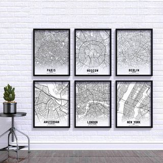 Комплект постеров Города 6