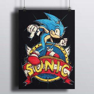 [HD] Постер Соник - The Hedgehog