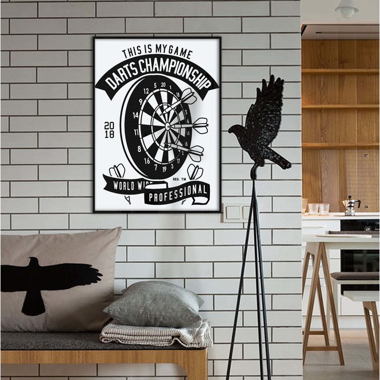[HD] Постер Дартс ЧБ