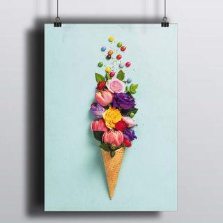 [HD] Постер Цветочный Рожок