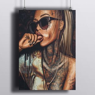 [HD] Постер Девушка - Жест