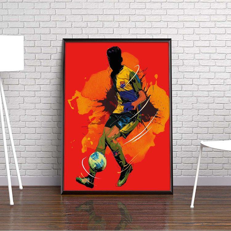 [HD] Постер Футболист - Арт