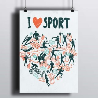 [HD] Постер Я Люблю Спорт