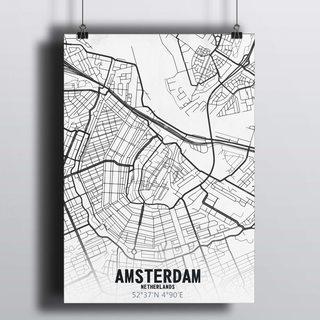 [HD] Постер Карта Амстердама