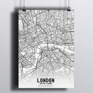 [HD] Постер Карта Лондон