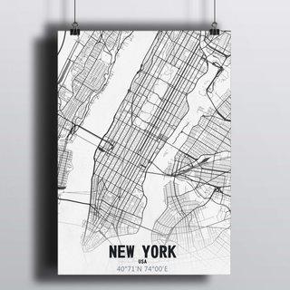 [HD] Постер Карта Нью-Йорк