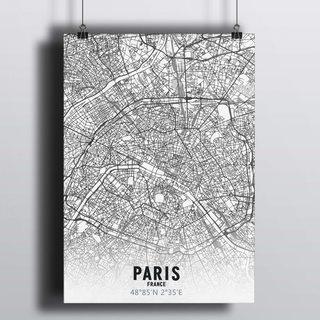 [HD] Постер Карта Париж