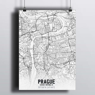 [HD] Постер Карта Прага