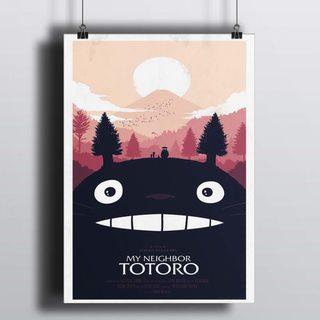 Постер Мой Сосед Тоторо - Хаяо Миядзаки
