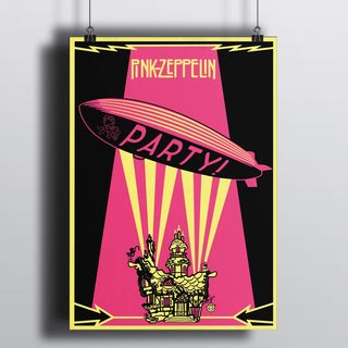 [HD]Постер Pink Led Zeppelin