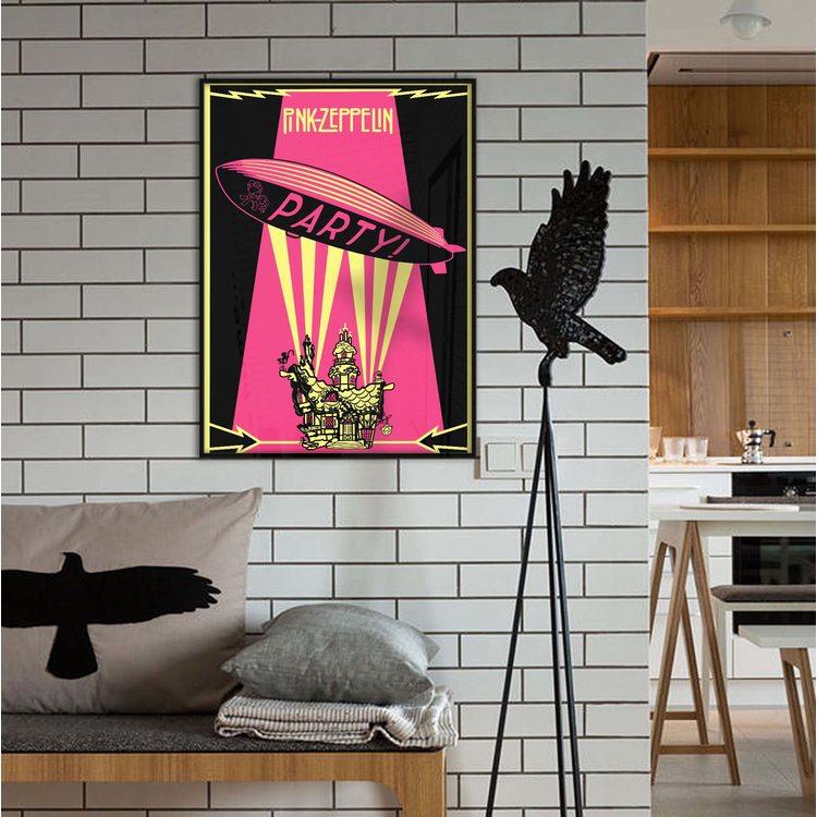 [HD]Постер Pink Led Zeppelin