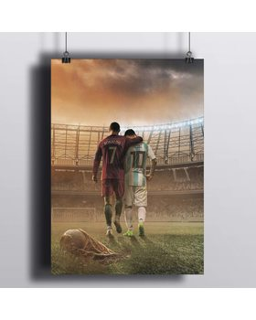 Постер Роналду И Месси