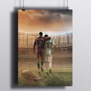 Постер Роналдо И Месси
