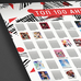 Постер ТОП-100 Аниме со скретч слоем А2 в тубе белый - p53863