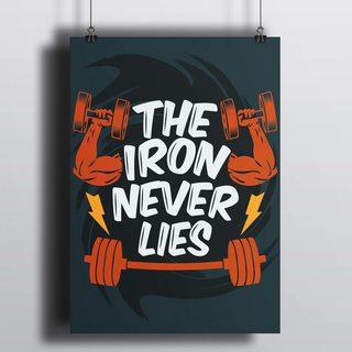 [HD] Постер Железо Никогда Не Лжет