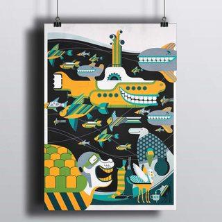 Постер Желтая Подводная Лодка
